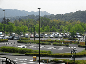 The south parking lot